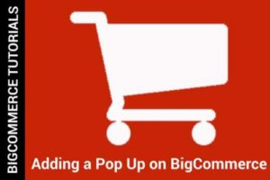 Creating a pop up with BigCommerce