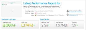 avada fastest cache first test