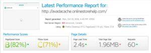 avada wp super cache results