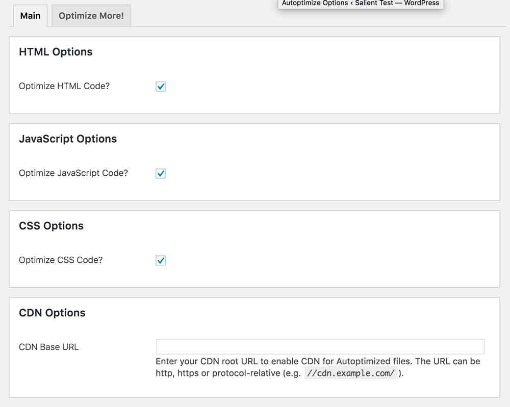autoptimize-settings